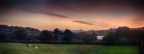 Photo of the sunset over Hearn Field, Combeinteignhead
