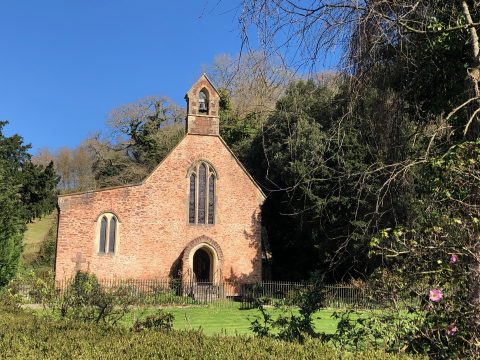 Photograph of St Blaise church in the village of Haccombe.