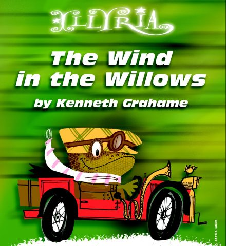 Cartoon image of Toad, from Wind inthe Willows, driving his car