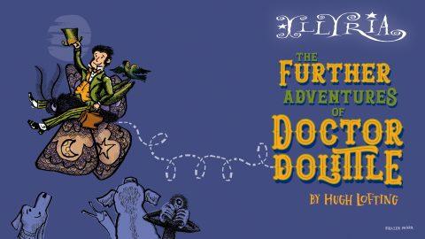Cartoon poster of Dr Dolittle